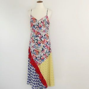 Mixed Print Boho Romantic Maxi Dress